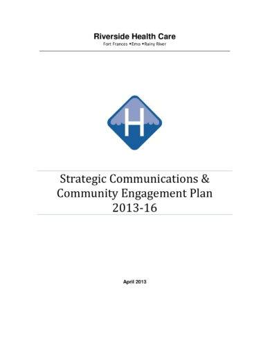 strategic communications and community engagement plan example