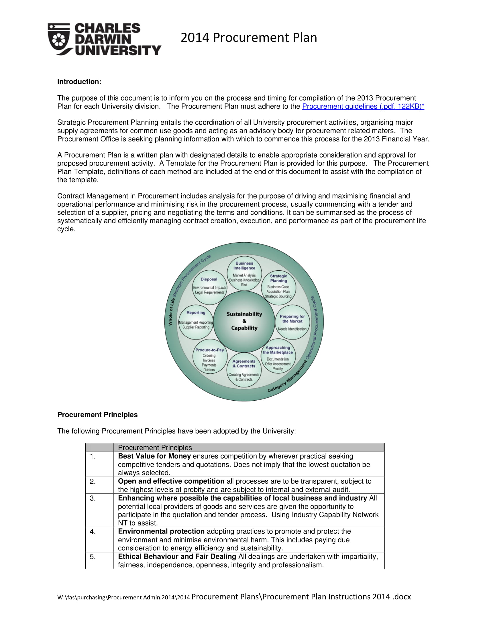 9 Procurement Strategy Plan Examples Pdf