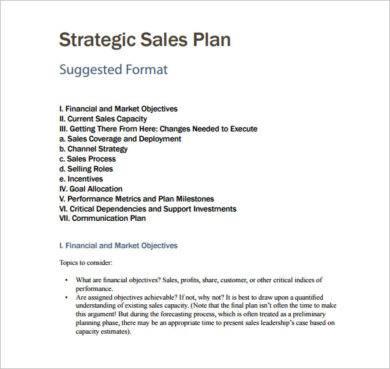 strategic sales plan example1