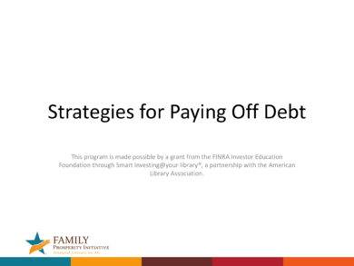 strategies for paying off debt with debt management plan example