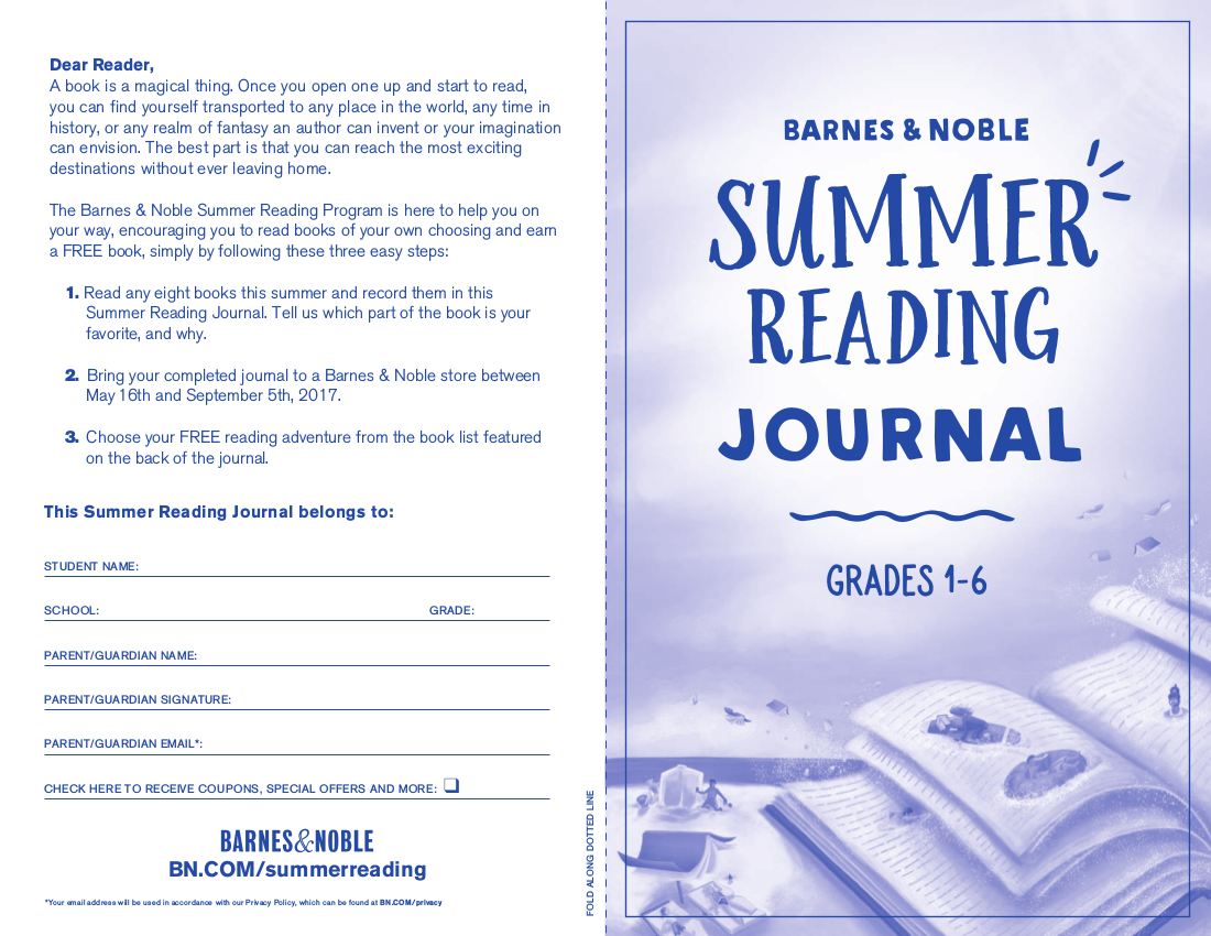 summer reading log example