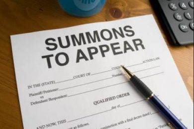 summons and complaint letter