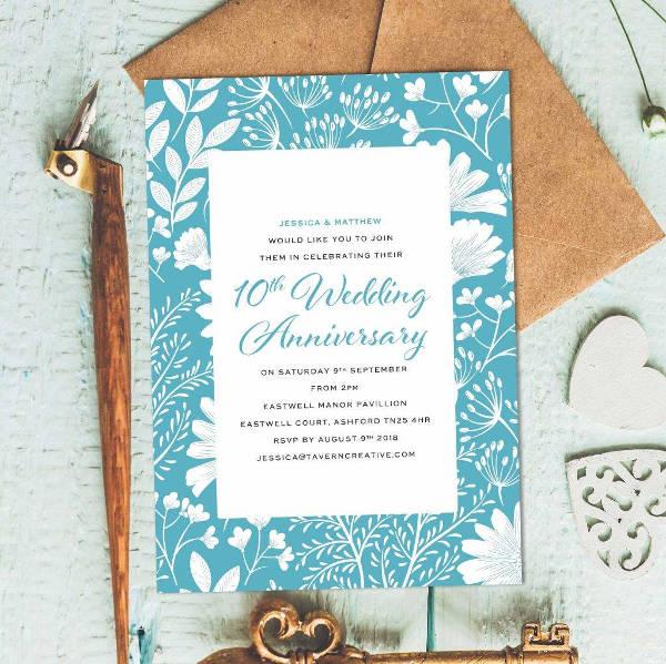 surprise anniversary announcement invitation example2