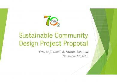sustainable community design project proposal example