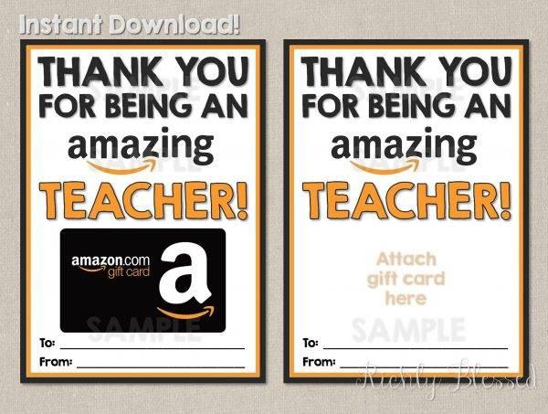 teacher appreciation gift card or voucher example