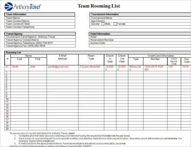 team rooming list example1