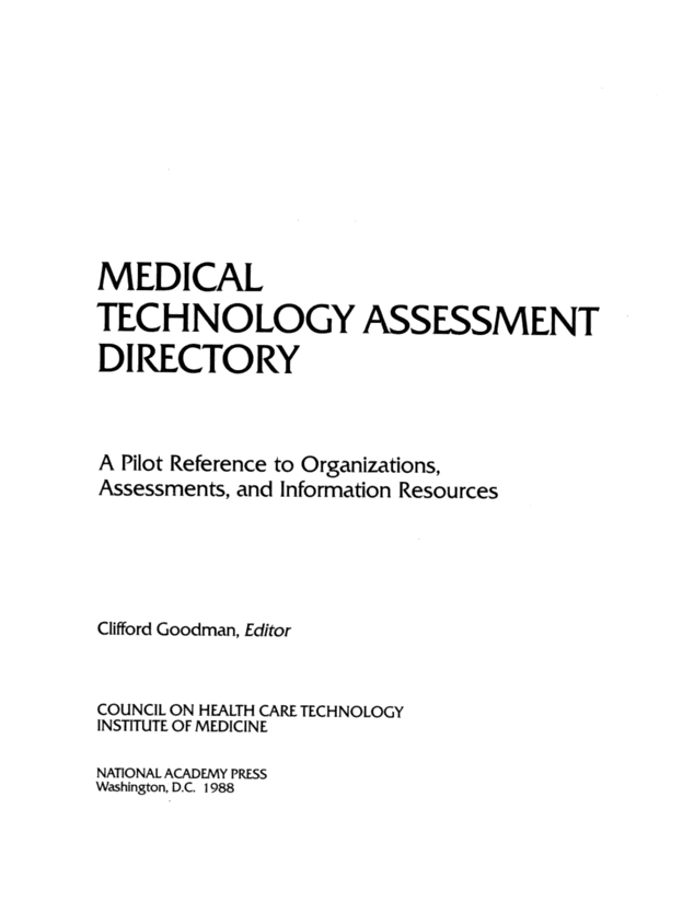 technology assessment directory example