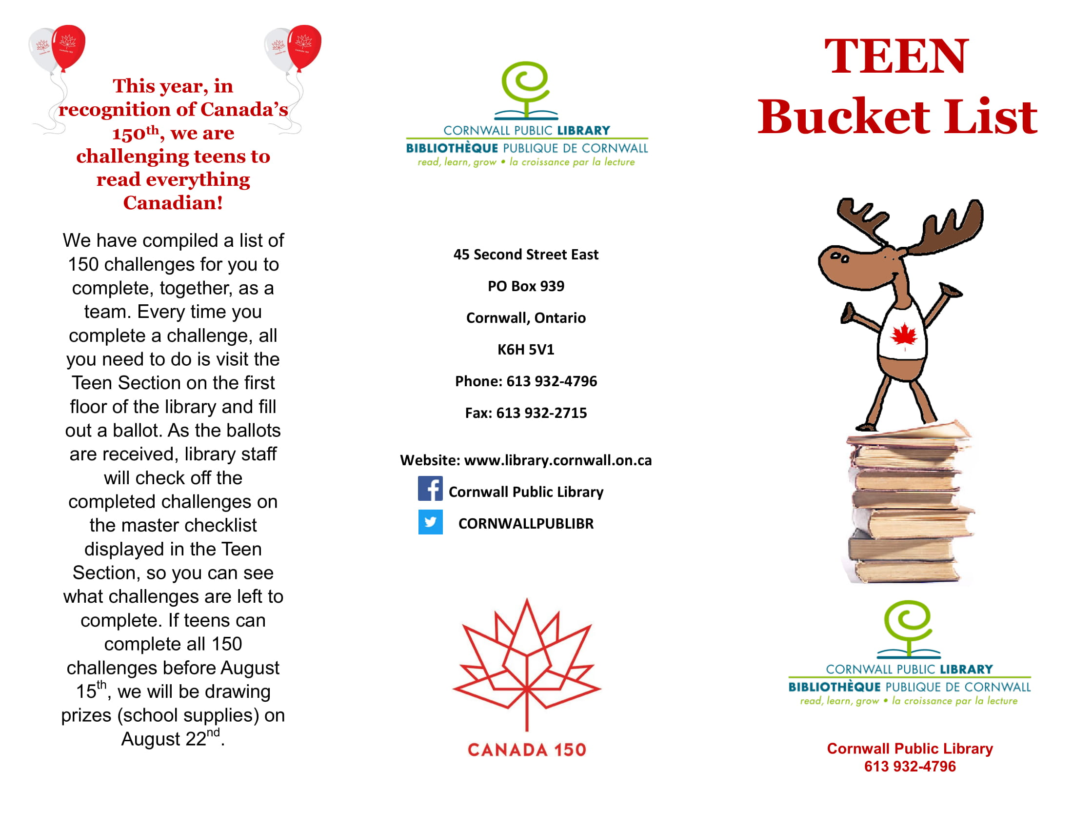 teens reading bucket list example