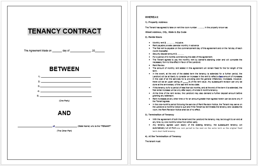 Sample Lease Termination Letter To Tenant: 11+ Commercial Tenancy Agreement Examples