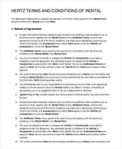 10 Car Rental Agreement Examples Pdf Word Examples
