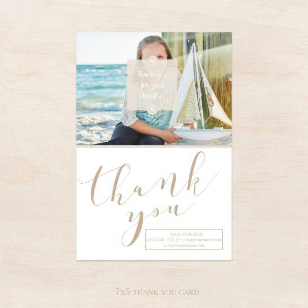 thank you card gift voucher design template example