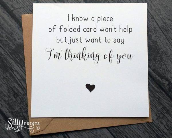 thinking of you sympathy greeting card example1