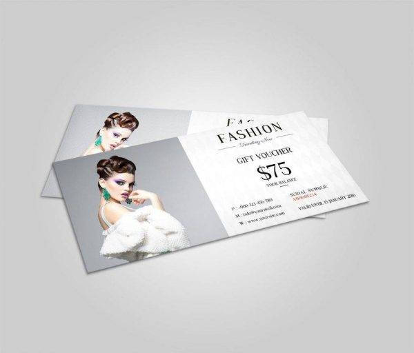 trending now fashion gift voucher example