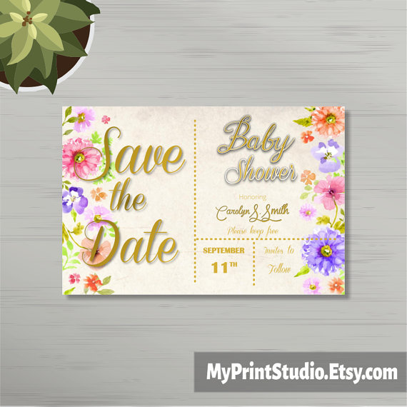 12 Baby Shower Save The Date Template Designs Psd Ai
