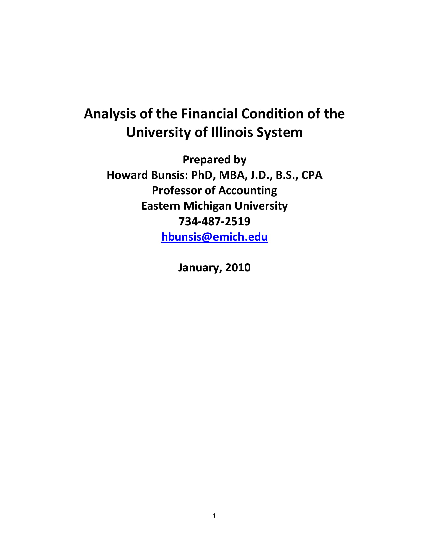 university of illinois financial health analysis example
