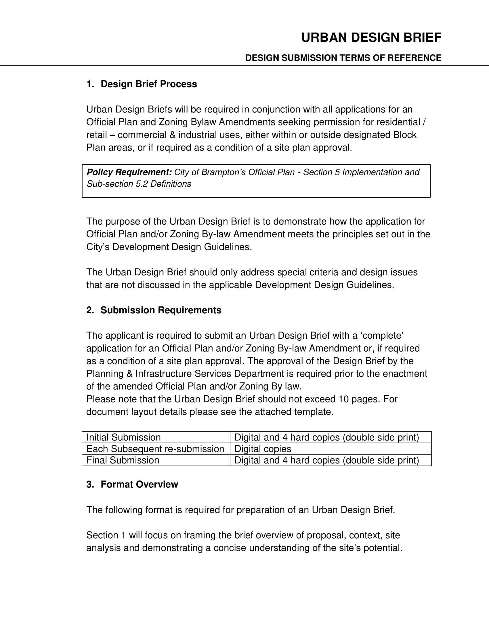 urban design brief template example 1