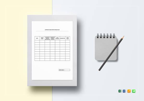 26+ Printable Mileage Log Examples in PDF | Excel | MS ...
