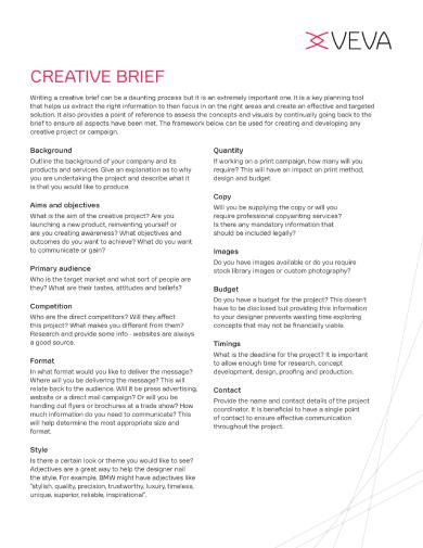 veva creative brief