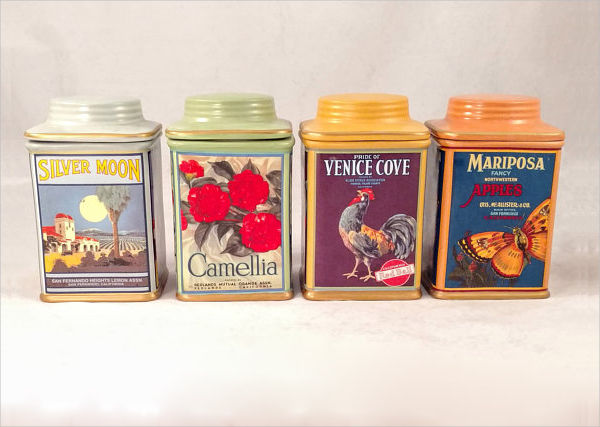 vintage canister labels example1