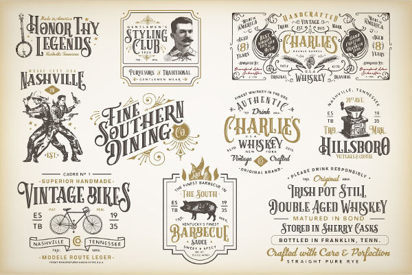 vintage victorian labels example1