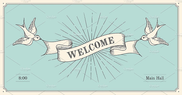 vintage welcome banner example2