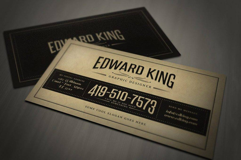 vintage and retro business card template example