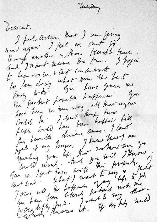 virginia woolfs suicide letter