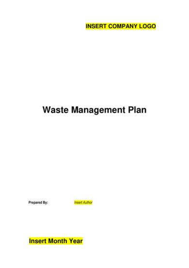 waste management plan example1