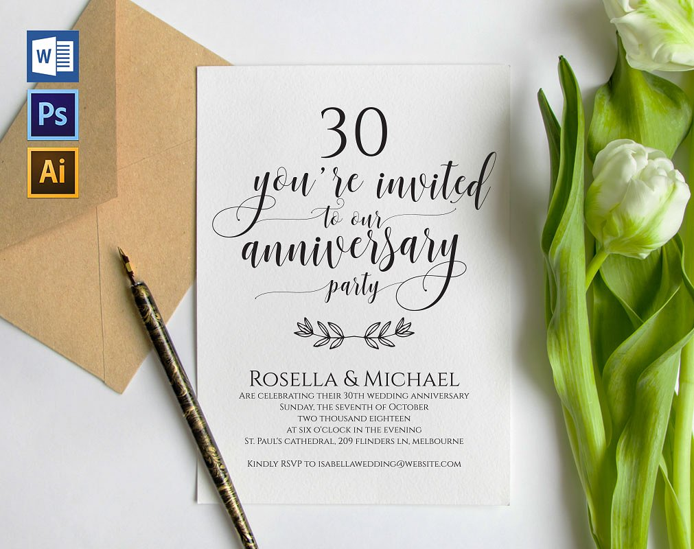 wedding anniversary announcement party example