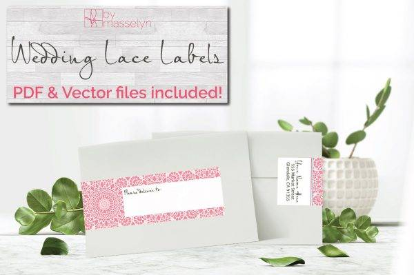 wedding lace wrap rsvp label example1