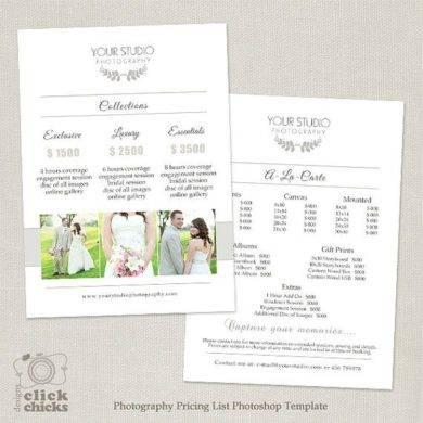 wedding price list template1