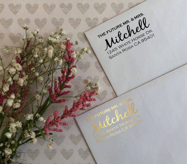 wedding return address label example1