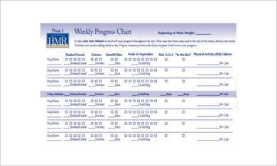 weight loss weekly progress chart example1