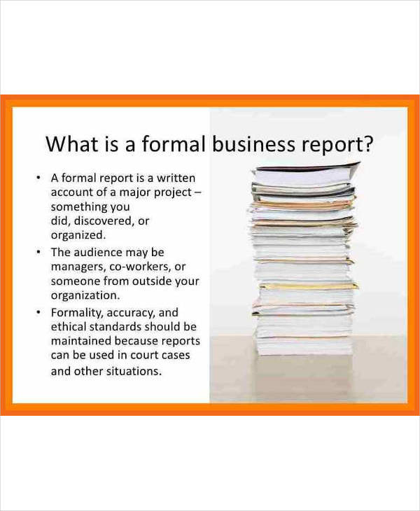 what is a formal business report1
