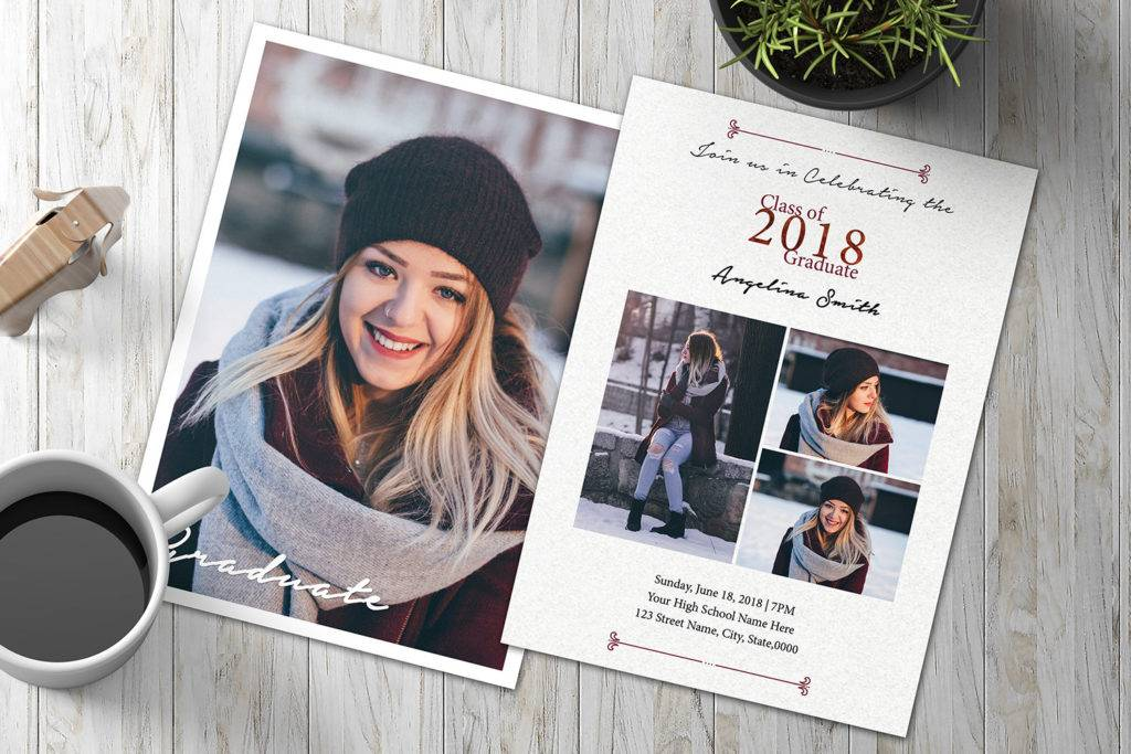 winter graduation announcement invitation example