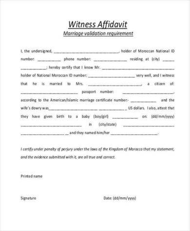 witness affidavit of marriage example1