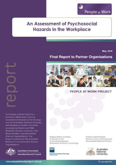 workplace psycho social hazards assessment template example