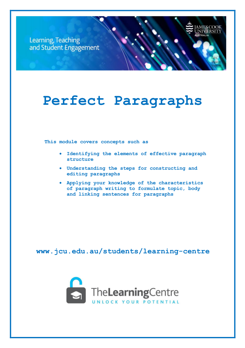 writing paragraphs with effective structure