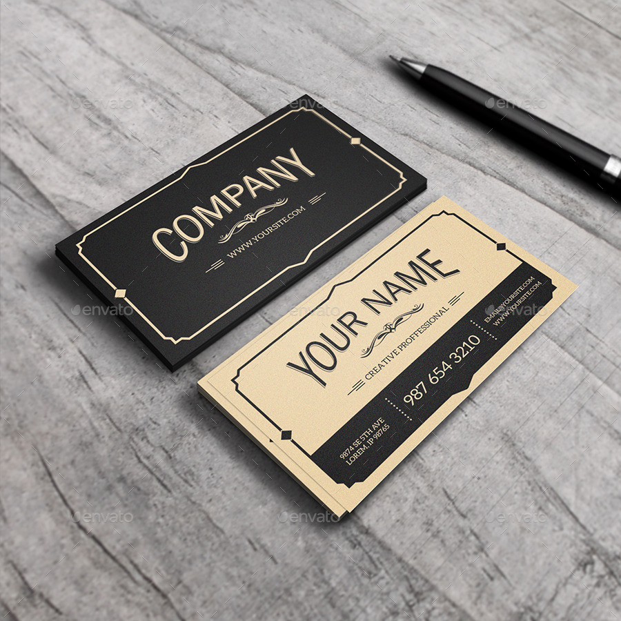 14 vintage business card designs and examples psd ai yukon vintage business card example colourmoves