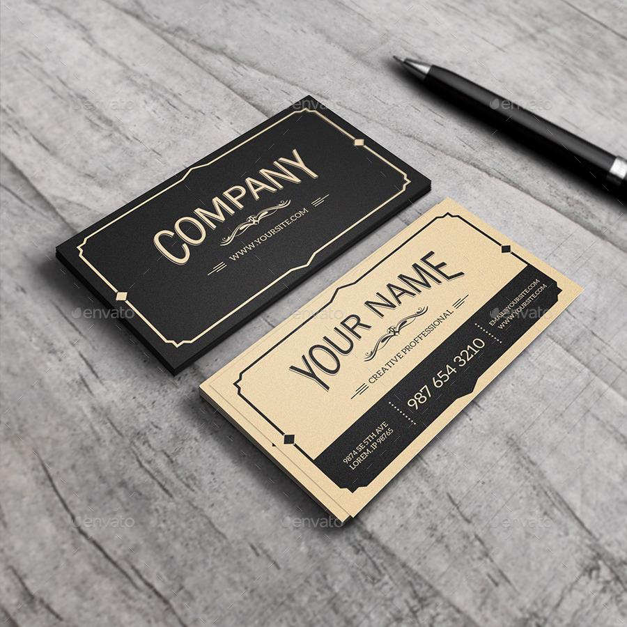 yukon vintage business card example