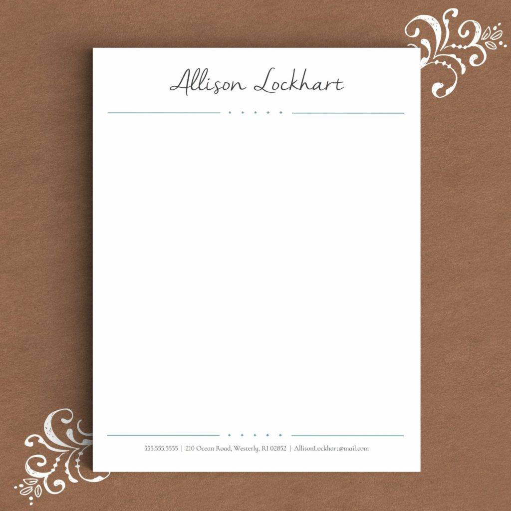 14 formal letterhead designs and examples formal letterhead template for word example altavistaventures Gallery