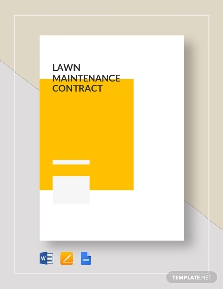 lawn maintainence contract