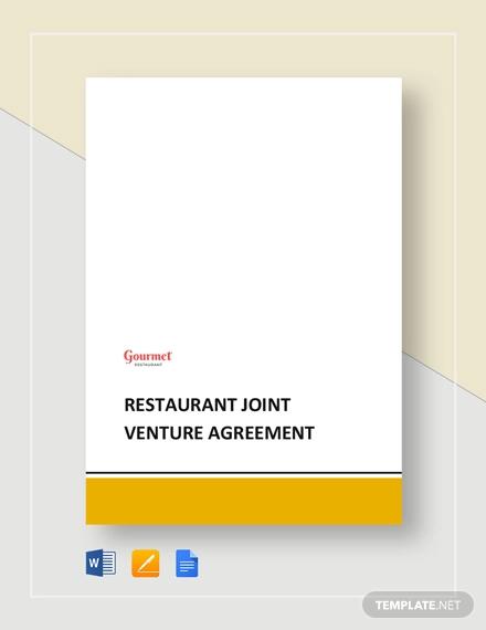 restaurant joint venture