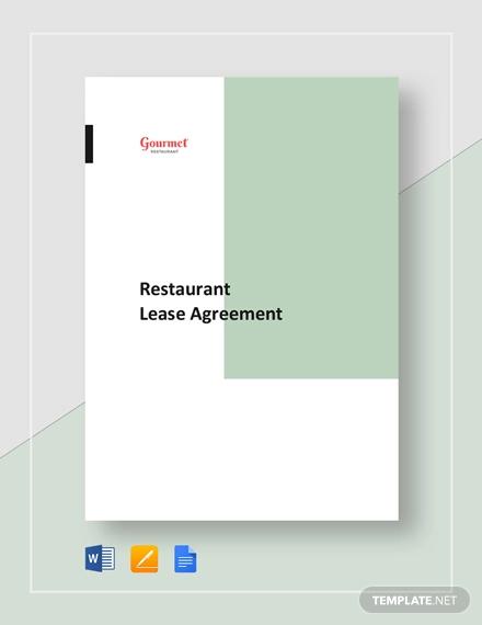 restaurant lease