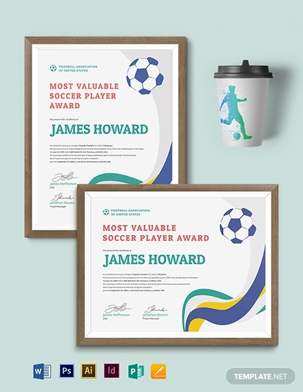 13+ Soccer Award Certificate Examples - PDF, PSD, AI