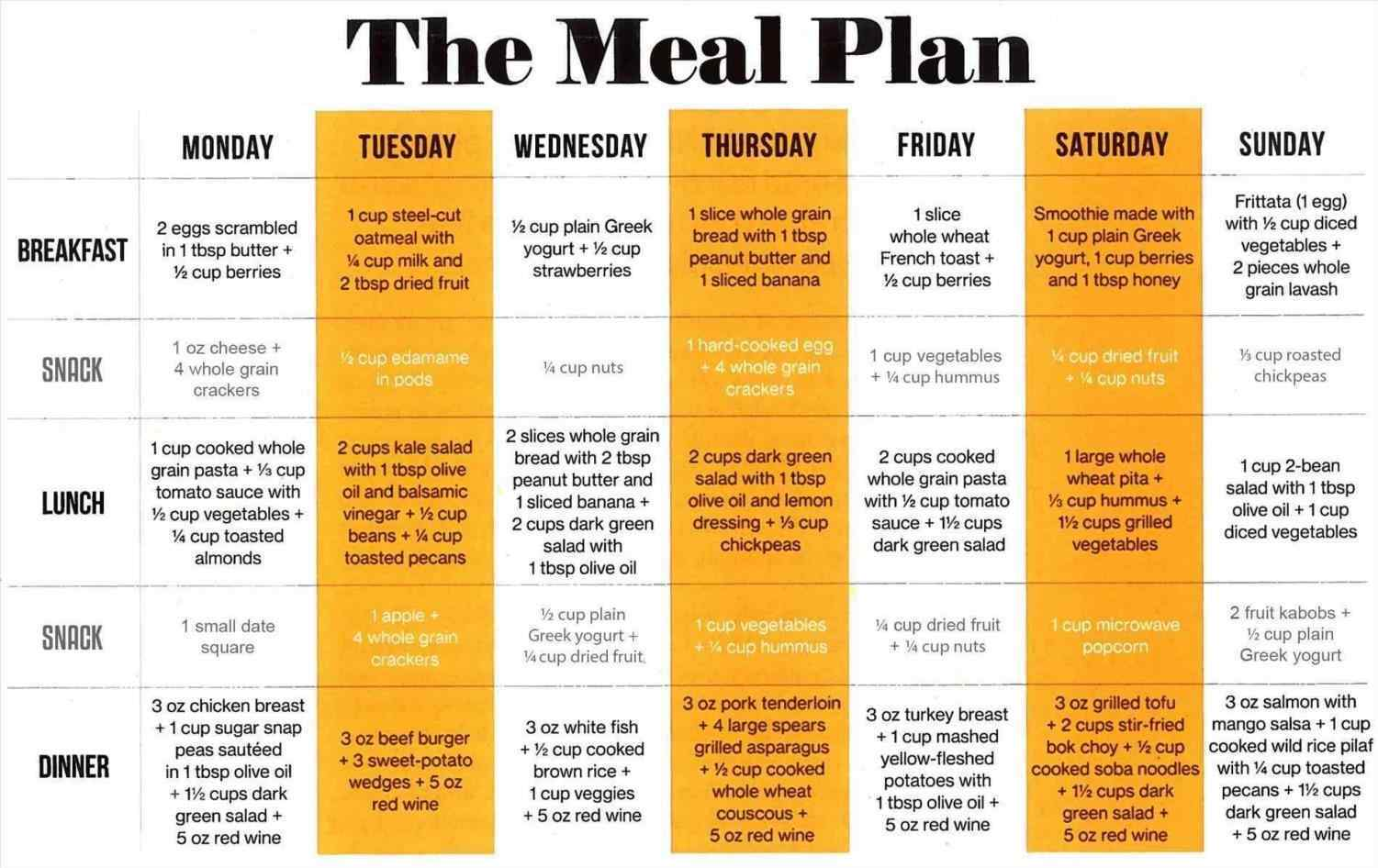 30 day meal plan for weight loss example