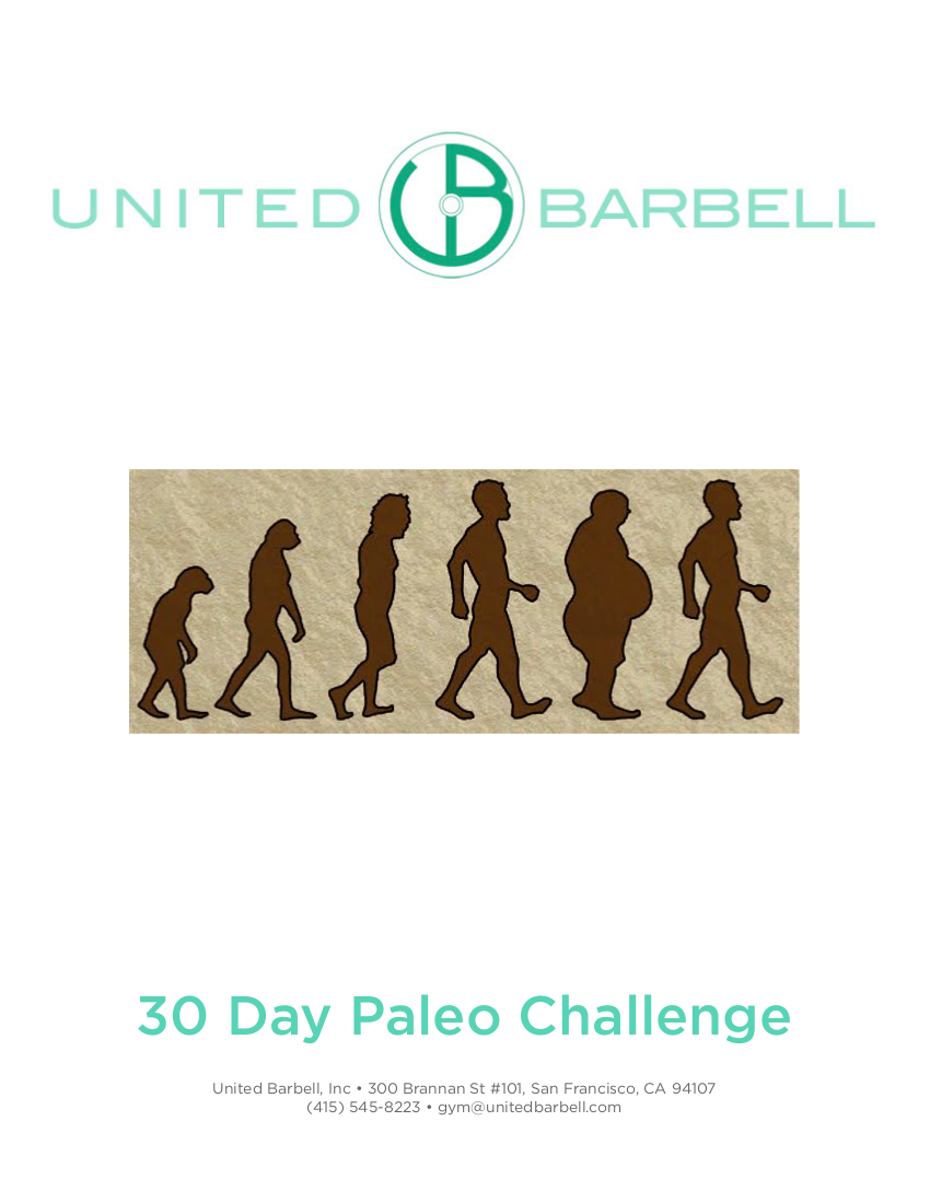 30 day paleo meal plan challenge example