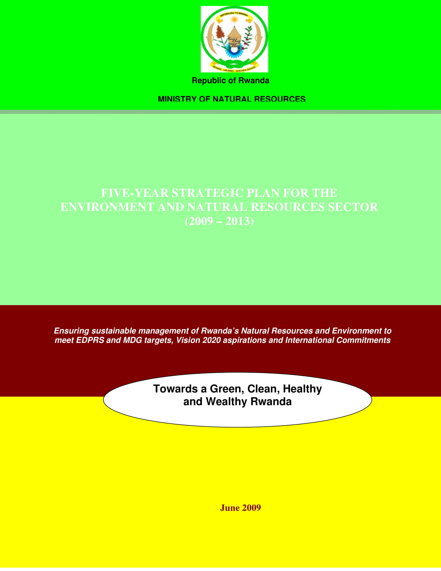 5 year strategic plan for the environment and natural resources sector example 01