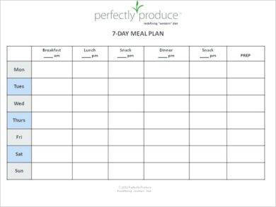 90 day daily meal plan example1