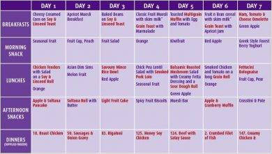90 day healthy meal plan example1